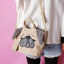 Load image into Gallery viewer, Cutest Pug Love Tote Sling BagBag