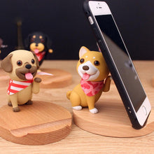 Load image into Gallery viewer, Cutest Pug Office Desk Mobile Phone HolderHome DecorAkita / Shiba Inu