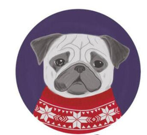 Cutest Red Sweater Pug Floor RugHome Decor