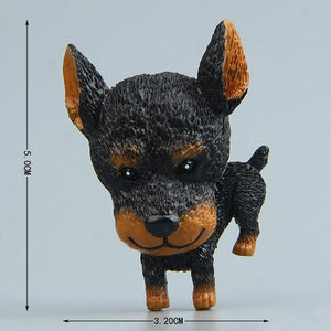 Cutest Rough Collie Fridge MagnetHome DecorDoberman
