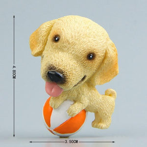 Cutest Rough Collie Fridge MagnetHome DecorLabrador with Ball