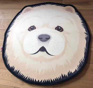 Cutest Samoyed Floor RugHome DecorSamoyedMedium