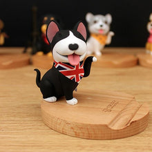 Load image into Gallery viewer, Cutest Shiba Inu Office Desk Mobile Phone HolderHome DecorBull Terrier - Black