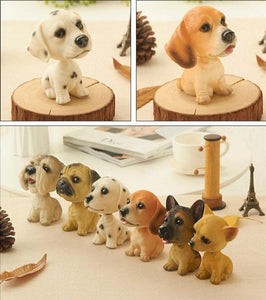 Cutest Sitting Dogs Bobbleheads for Dog LoversCar Accessories