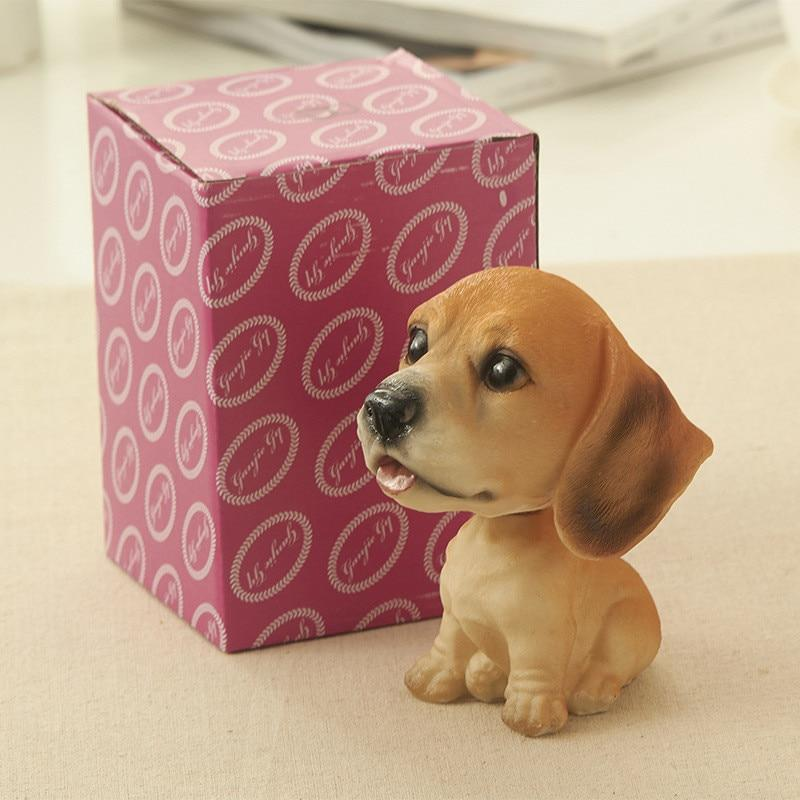 Cutest Sitting Dogs Bobbleheads for Dog LoversCar AccessoriesBeagle