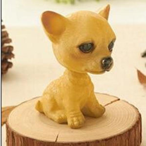 Cutest Sitting Dogs Bobbleheads for Dog LoversCar AccessoriesChihuahua
