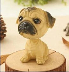 Cutest Sitting Dogs Bobbleheads for Dog LoversCar AccessoriesPug