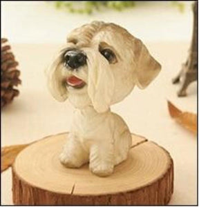 Cutest Sitting Dogs Bobbleheads for Dog LoversCar AccessoriesSchnauzer