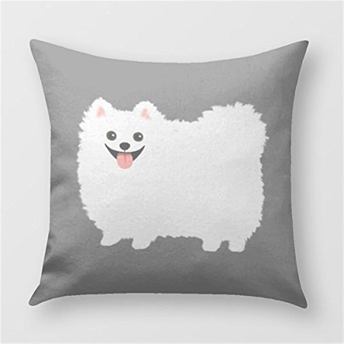 Cutest White Pomeranian Cushion CoverCushion Cover