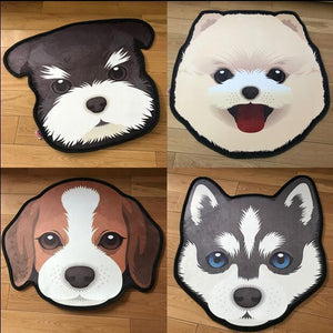 Cutest White Pomeranian / Samoyed Puppy Floor RugHome Decor