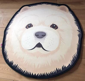 Cutest White Pomeranian / Samoyed Puppy Floor RugHome DecorSamoyedMedium