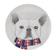 Load image into Gallery viewer, Cutest Winter Scarf French Bulldog Floor RugHome Decor