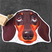 Load image into Gallery viewer, Dachshund Face Beach TowelTowel