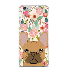 Load image into Gallery viewer, Dachshund in Bloom iPhone CaseCell Phone AccessoriesFrench Bulldog - FawnFor iPhone 7