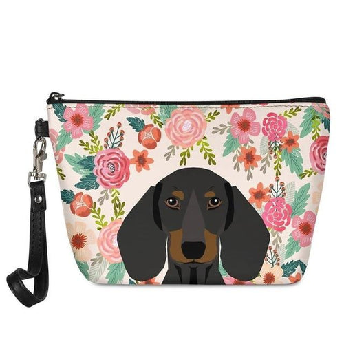 Dachshund in Bloom Make Up BagAccessoriesDachshund