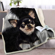 Load image into Gallery viewer, Dachshund Love Soft Warm Fleece BlanketBlanketChihuahuaSmall