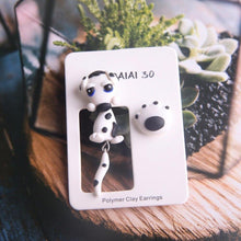 Load image into Gallery viewer, Dalmatian Love Handmade Polymer Clay EarringsDog Themed Jewellery