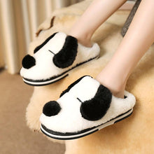 Load image into Gallery viewer, Dalmatian Love Warm Indoor SlippersSlippersWhite5.5