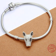 Load image into Gallery viewer, Doberman Love Silver Charm BeadDog Themed Jewellery