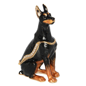 Doberman Love Small Jewellery Box FigurineHome Decor