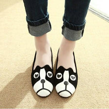 Load image into Gallery viewer, Dog and Cat Face Womens FlatsShoesOnly Dog5