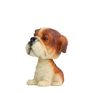 Doggo Love Miniature Car BobbleheadsCarEnglish Bulldog
