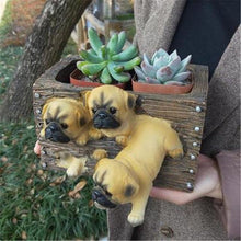 Load image into Gallery viewer, Doggo Love Multipurpose Decorative Flower Pot or Storage BoxHome DecorPugs