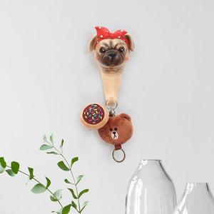 Doggo Love Multipurpose Wall HooksHome DecorPug - 1 pc