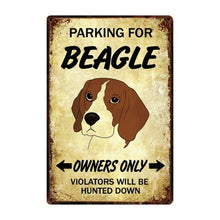 Load image into Gallery viewer, Doggo Love Reserved Parking Sign BoardsCarBeagleOne Size