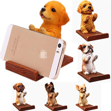 Load image into Gallery viewer, Doggo Love Resin and Wood Cell Phone HolderCell Phone Accessories