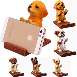 Doggo Love Resin and Wood Cell Phone HolderCell Phone Accessories