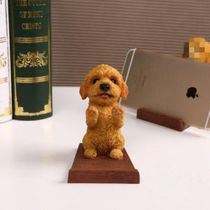 Doggo Love Resin and Wood Cell Phone HolderCell Phone AccessoriesToy Poodle