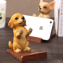 Load image into Gallery viewer, Doggo Love Resin and Wood Cell Phone HolderCell Phone AccessoriesYellow Labrador / Golden Retriever
