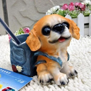 Doggo Love Resin Desktop Pen or Pencil Holder FigurineHome DecorBeagle