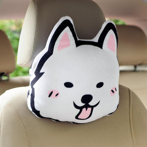 Doggo Love Stuffed Cushion and Neck PillowCar Accessories