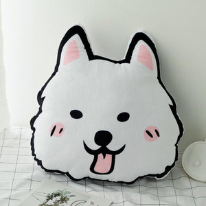 Doggo Love Stuffed Cushion and Neck PillowCar AccessoriesCar PillowSamoyed