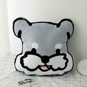 Doggo Love Stuffed Cushion and Neck PillowCar AccessoriesCar PillowSchnauzer