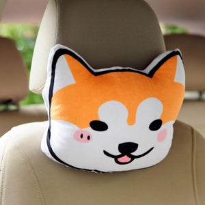 Doggo Love Stuffed Cushion and Neck PillowCar AccessoriesShiba InuCar Pillow