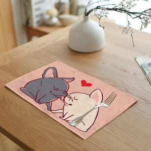 Dogs in Love Table MatMatFrench Bulldogs