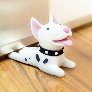 Door Stopper for Dog LoversHome DecorBull Terrier - White