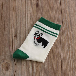 Embroidered Dachshund Cotton SocksSocksBoston Terrier