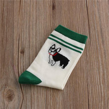 Load image into Gallery viewer, Embroidered Pug Cotton SocksSocksBoston Terrier