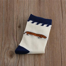 Load image into Gallery viewer, Embroidered Pug Cotton SocksSocksDachshund