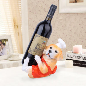 English Bulldog and Labrador Love Wine Holder StatuesHome Decor