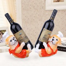 Load image into Gallery viewer, English Bulldog and Labrador Love Wine Holder StatuesHome Decor