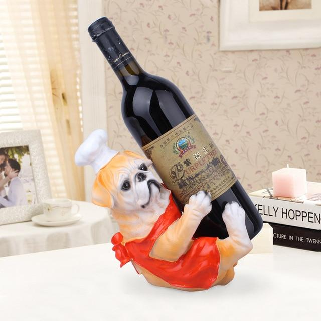 English Bulldog and Labrador Love Wine Holder StatuesHome DecorEnglish Bulldog