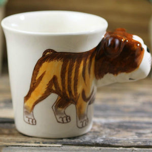 English Bulldog Love 3D Ceramic CupMug