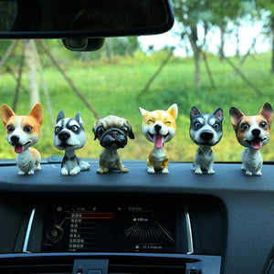 English Bulldog Love Car Bobble HeadCar