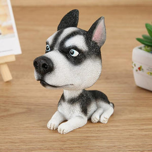 English Bulldog Love Car Bobble HeadCarHusky Sitting
