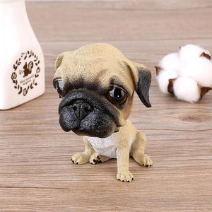 English Bulldog Love Car Bobble HeadCarPug